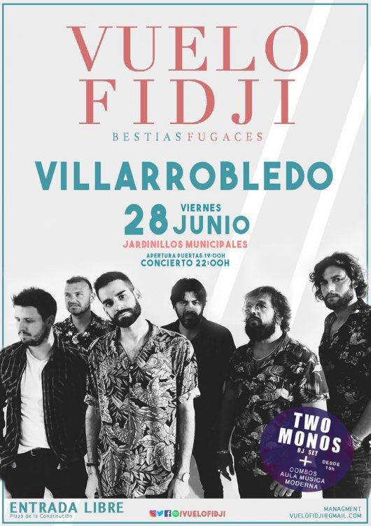Cartel concierto Vuelo Fidji