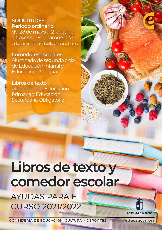 Cartel ayudas libros de texto y comedor escolar curso 2021-2022