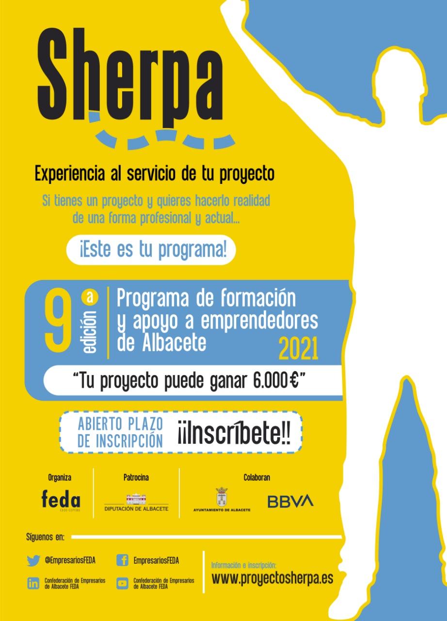 9ª Edición del Programa Sherpa 2021 de apoyo a emprendedores.