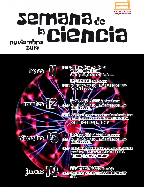 Cartel de la Semana de la Ciencia 2019.