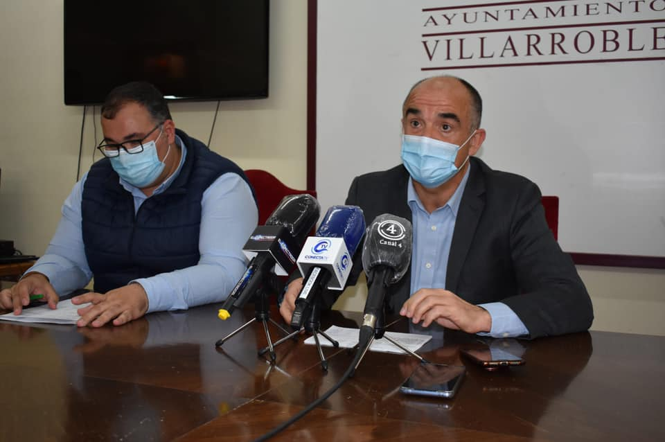 Valentín Bueno, Alcalde de Villarrobledo, Bernardo Ortega, concejal de obras y servicios