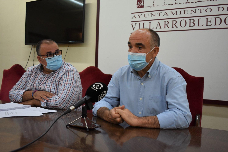 Valentín Bueno, Alcalde de Villarrobledo y Bernardo Ortega, Primer Teniente de alcalde