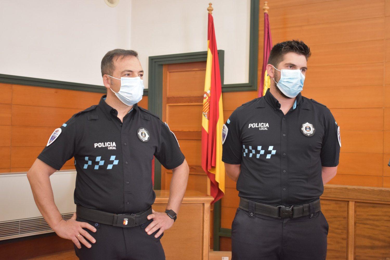Nuevos subinspectores Policía Local, José maría Monedero y Jesús Alfaro