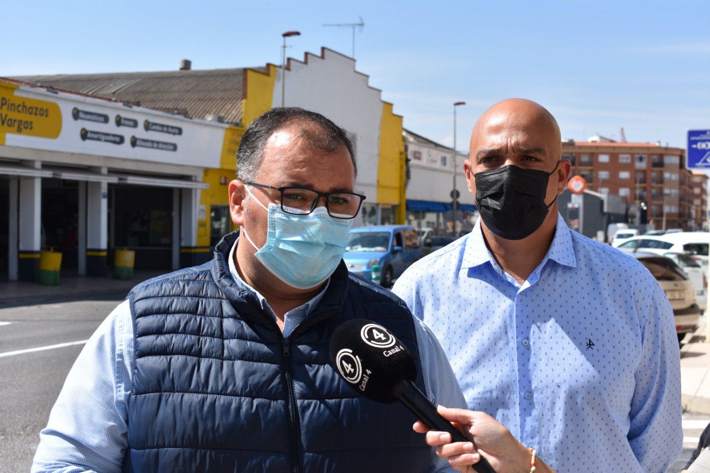 Concejal de obras y Servicios, Bernardo Ortega y concejal de Seguridad Vial, Miguel Hergueta