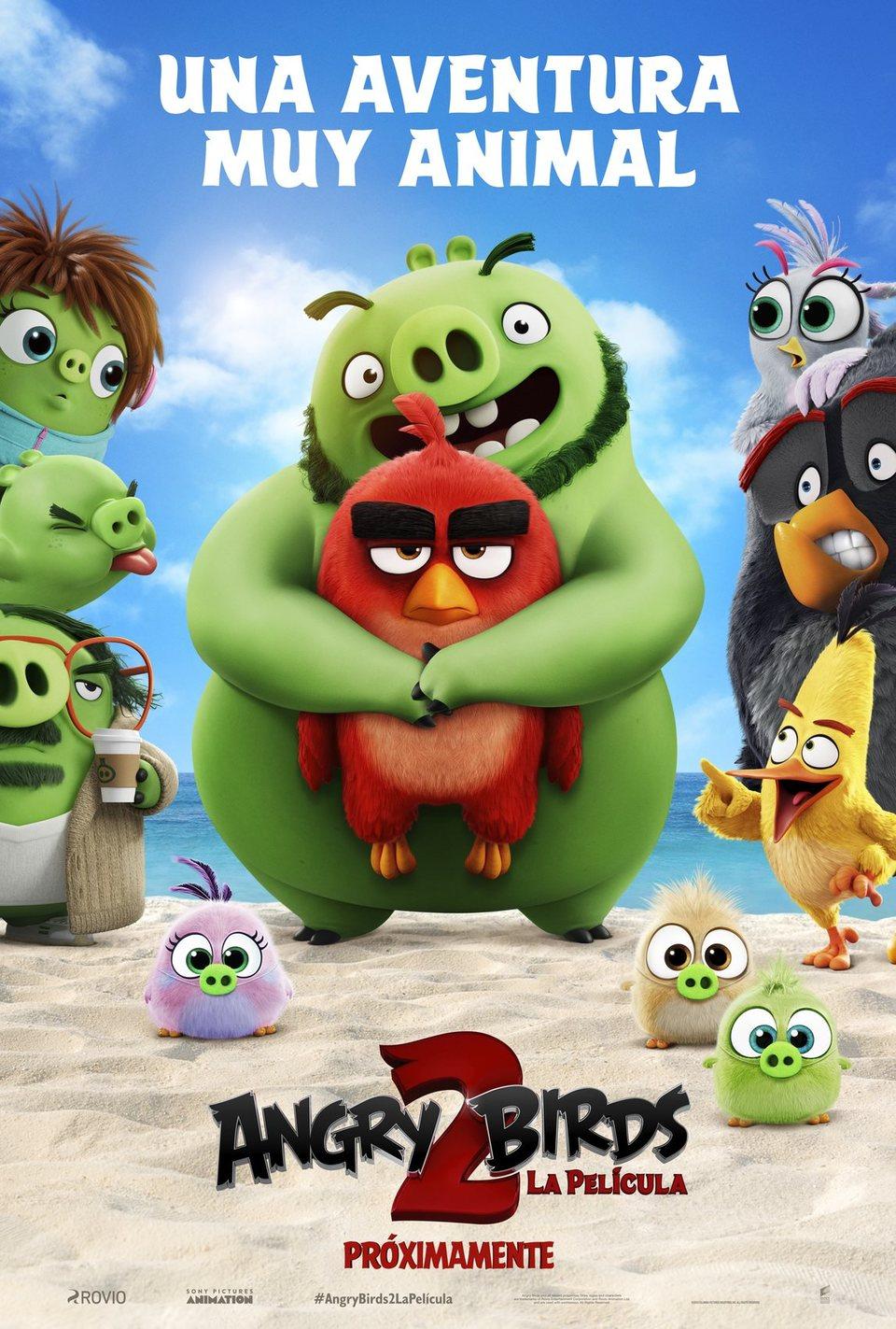 """Cartel de la película """"Angry Birds 2""""."""