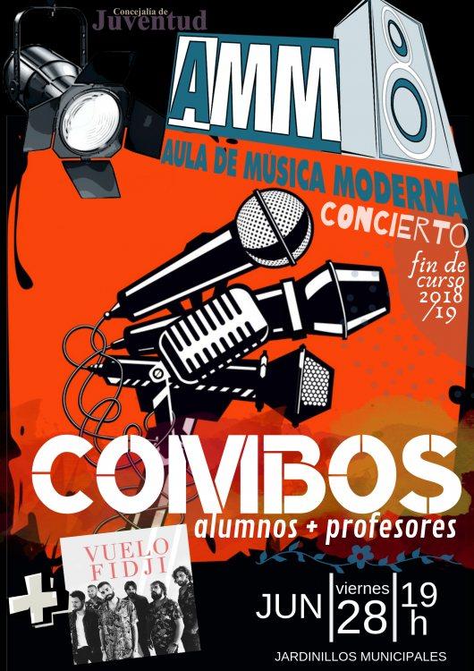Cartel del concierto fin de curso